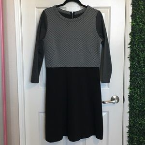LOFT - Ann Taylor Long Sleeve Gray Dress